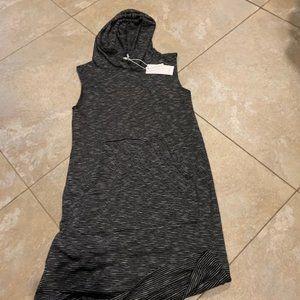 anti star striped hooded dress size s new